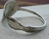 Silver Plated Iced Tea Spoon Open Cuff Bracelet Rogers Silver Co