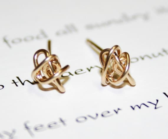 Gold Stud Knot Your Mommas Earrings