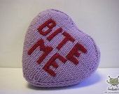 Bite Me Valentine pillow