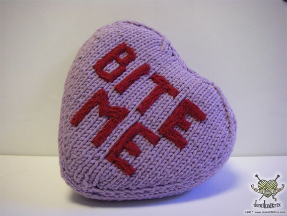 Bite Me Valentine pillow