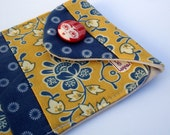 Reserved for Bonnie Patchwork Cell Ipod Camera Case Blue Yellow