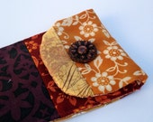 Reserved for  Bonnie Patchwork Cell Ipod Carrier Orange Purple