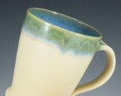 Taper Mug in Cream / Handmade Wheel Thrown Pottery