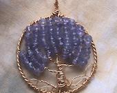 Tanzanite - Tree of Life - Pendant - necklace - Tanzanite Tree of Life pendant - Tanzanite Necklace - Tanzanite - Gold - Gold fill - Pendant