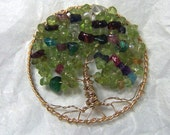 Family Tree Birthstone Brooch Jewelry : Grandma  Mother Mother in law Brooch Pin in Gold - Gemstone personalized gift