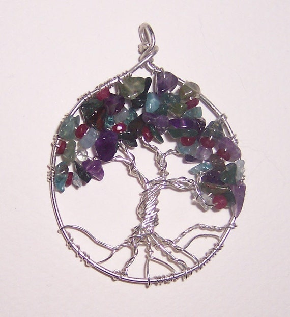 necklace tree of family tree gem tree for by