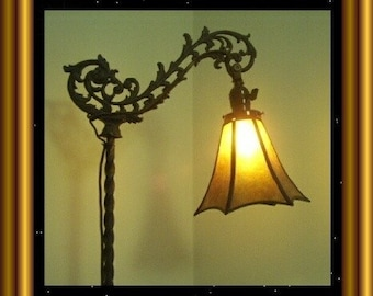 My Tulip Mica Shade in your choice of Mica for your Antique Vintage Old Bridge Lamp