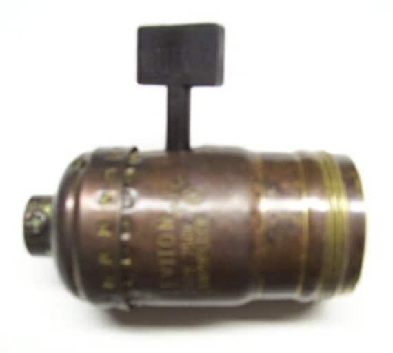 Solid Brass Standard Size Uno Thread Lamp Socket Patinated Not