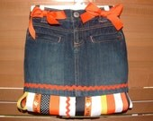 TRICK OR TREAT HALLOWEEN RIBBON SKIRT SIZE 4T READY TO SHIP MUST SEE