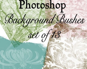 Backgrounds - Photoshop Brushes - Set of 13 different brushes - web design - Buy Any 3 Three Dollar Digital Items Get One Free