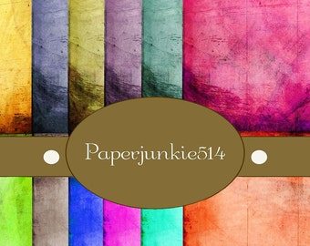 Grunge Backgrounds 1 -12x12 - Digital, Download, Digital Scrapbook Papers - BUY Any 3 Three Dollar Digital Items Get 1 Free