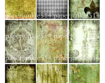 Digital Collage Sheet 14 - ACEO, ATC - Buy Any 3 Three Dollar DIigital Items Get 1 Free