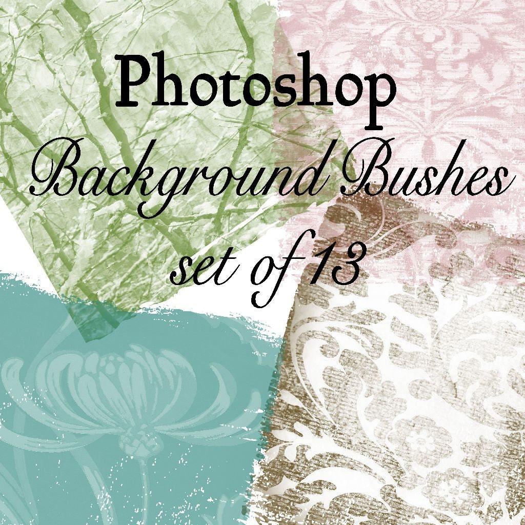Backgrounds Photoshop Brushes Set Of 13 Different Brushes