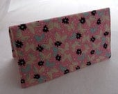 Checkbook Cover Coupon Holder  Pretty Pink Butterfly