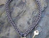 Punky Chunky Stainless Steel Locking Choker - Chainmaille