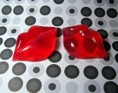 Peppermint Kisses Red Valentine Lips Hand Soap -Set of 2-