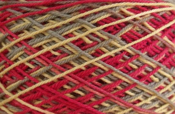 50 yards Hand Dyed Size 10 Cotton Crochet Thread Zetan Colorway