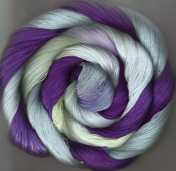 175 yards Hand-dyed Size 10 Cotton Crochet Thread Jaylen Colorway