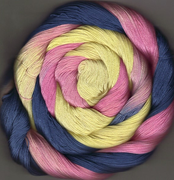 150 yards Hand Dyed Size 10 Cotton Crochet Thread Katrina Colorway