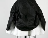 Reserved for Audrey  Alice III Square Silk Variation Black and White Double Skirt (29.5 inch waist)