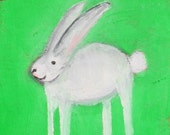 Little Bunny Original Oil Painting ACEO