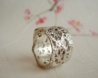 Dalia Lace ring in sterling silver- size 6 only, Ready to Ship