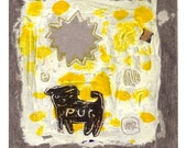 Cardboard Sunshine Pug