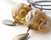 Oriente Earrings - Murano glass beads and oxidized sterling silver