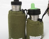 Klean Kanteen bottle cover - you choose the size - moss green