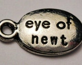 findings pewter eye of newt charm quantity two 2  halloween witches spells  cca16