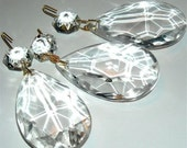 chandelier crystal vintage teardrop replacement lamp parts prism drop supplies  jewelry  sew200