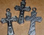 metal cross Jesus Crucifix  medal Catholic Christian  ts11