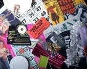 collage scrap pictures ribbons ephemera small objects who knows