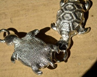 3D Turtle Charm pewter made in America jewelry findings quantity one charm  WV4