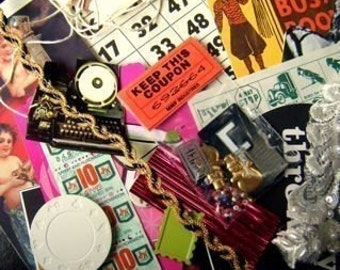 Wholesale Paper pack collage scrap pictures ribbons ephemera small objects who knows