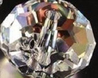 6x8mm clear glass crystal beads      E3  quantity twenty 20