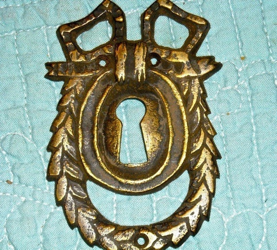 steampunk supplies  french key vintage old key hole keyhole floral gothic supplies jewelry victorian