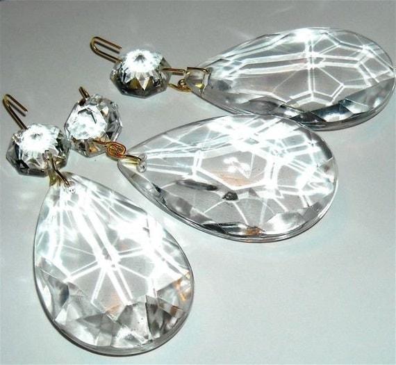 Crystal Chandelier Pendants Parts: Chandelier Crystal Vintage Teardrop Replacement Lamp Parts