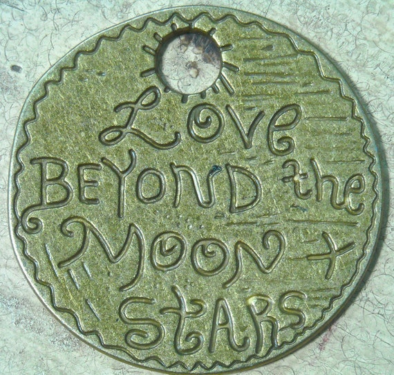 Antiqued Bronze Love  tag coin charm pendant jewelry findings    mij9 quote words romance tateam