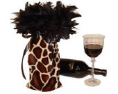 Animal Print Wine Bottle Cover - Wine Bag - Kamryn