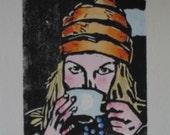 Tea - Woodblock Print