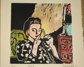Smoke - Original Woodblock Print