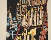 Altar  -  Original woodblock print