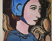 Jean - Original woodblock print