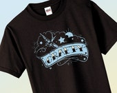 Crafty Tattoo Style Tshirt  Sizes Small Thru 4XL