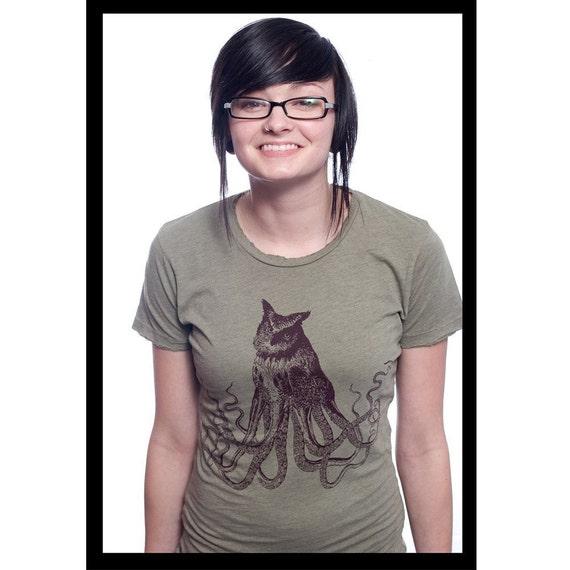 OctoOwl Ladies Destroyed Tshirt