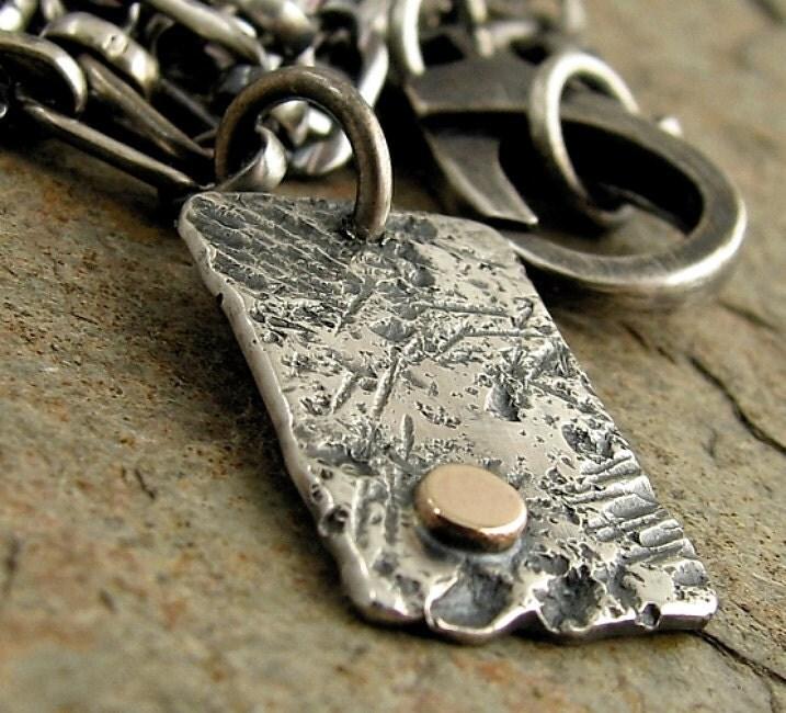 Hammered Dog Tags for Men Unisex Mens Silver Necklace Mens