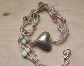 Sweet Heart in Pink and Green