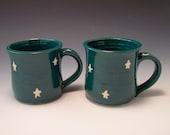 Starry Nights Mugs-Set of 2-Handmade Pottery