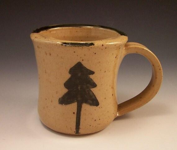 Handmade Pottery Northern Rustic Pottery Mustache Mug